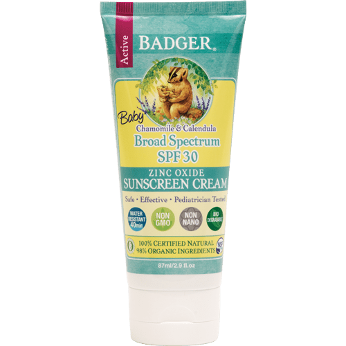 baby sunscreen spf30 badger cream